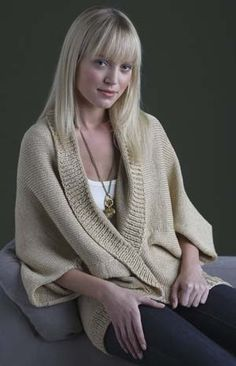 Free Pattern: Curtain Call Shrug. This looks very comfortable.