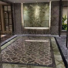 Italy Marble Price Polished Grey Marble Tiles Water Jet Medallion Marble Flooring Medallion Square Medallion Ceramic Backed