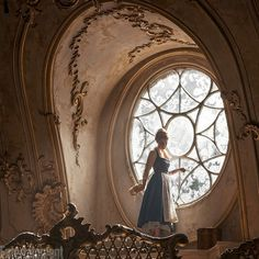 "Emma Watson as Belle in Disney's live-action ""Beauty and the Beast."""