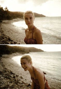 """Grace Kelly on a beach in Jamaica, Photograph by Howell Conant. Classic Hollywood, Old Hollywood, Jamaica, Look Here, Vintage Beauty, Vintage Glamour, Beach Babe, Classic Beauty, Famous Faces"