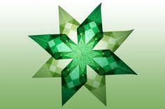 8 Zackiger grüner Stern