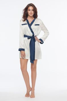 Brigitte Blanc 100% Silk Robe – DEAR BOWIE