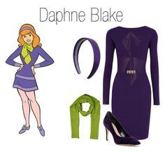 """Daphne Blake"" by hestiarocks ❤ liked on Polyvore featuring Versace, Via Spiga and Hermès"