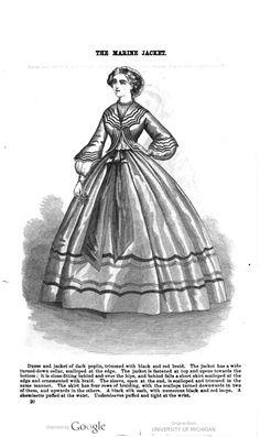 Dress and Jacket of dark poplin, January 1862