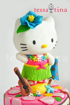 Hawaiian Hello Kitty Cake
