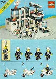 Lego Building Project For Kids 88 - mybabydoo Lego City Police, Police Police, Vintage Lego, Lego 4, Lego Duplo, Adventure Time Art, Cartoon Network Adventure Time, Lego Sets, Instructions Lego