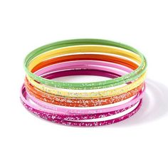 Stand out in sparkles: Glitter Bangle Bracelets Set of 10 #moreismore