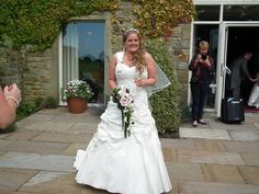 Ahh Emma looks perfect in her Ellis gown!  #weddingdress #bridalgown #ellisbridal #weddinginspiration