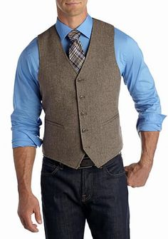 ac578d5c840 2018 Winter Wedding British Brown Wool Tweed Vest Men Formal Slim Fit Suit Vest  Men Wedding Waistcoats Hot Sale Plus Size 6XL -in Vests from Men s Clothing  ...