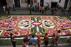 Infiorata - flower festival in Italy