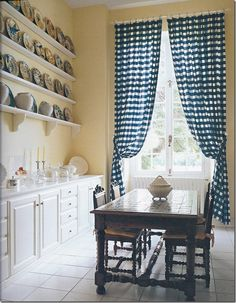 discussion on French (inward-opening) casement windows and ideas for window treatments.
