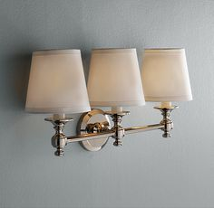 Powder room light - Lugarno Double Sconce - Restoration Hardware ...