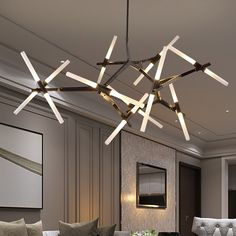 62.12$  Buy here - http://alixn5.worldwells.pw/go.php?t=32748829274 - LED Creative Arts Pendant Lamp Modern Brief Design Personality Living Room Dining Room Restaurant villa Tree Branches Chandelier