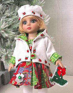 "Christmas Outfit for 10"" Tonner Patsy Doll Ann Estelle Sophie"