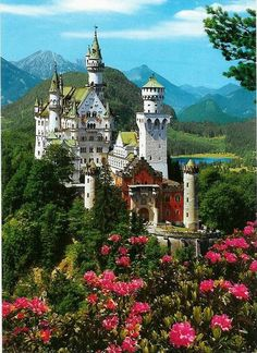 Neuschwanstein Castle in Bavaria, Germany: the inspiration for Disney's Cinderella's Castle⏰