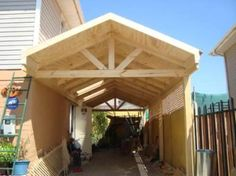 Ideas Para, Porsche, Outdoor Structures, Home, Colorful Houses, Tatoo, Side Yards, Wooden Decks, Patio Roof