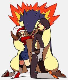 pokemon Team Rocket Serperior Emboar venusaur feraligatr gen i Touko Typhlosion Poke Ball