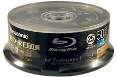 Panasonic 50GB Rewritable BD-RE Printable Blu-ray Discs (25 Pack) by Panasonic. $299.00. Panasonic 50GB Rewritable Blu-ray BD-RE Printable discs are the industry standard for archival and storage of large amounts of computer data. Rewritable discs can be used and written to over and over!  The 50 GB capacity of Blu ray rewritable double layer discs are great for authoring and backup of high definition (HD) entertainment such as movies and television shows.. Save 15%!