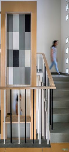 Screen Saver House Highlights The Play Of Shadow And Colors | Manoj Patel Design Studio - The Architects Diary Staircase Ideas, Architects, Highlights, Play, Studio, Colors, Modern, Pattern, House
