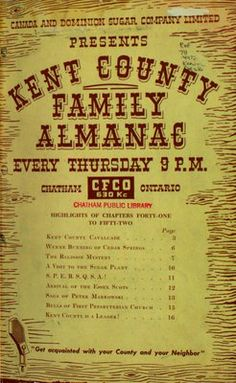 Kent County Family Almanac : reprint of broadcast over CFCO
