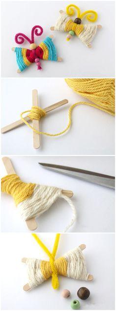 Woven Craft Stick Butterflies
