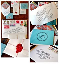 look at that hand lettering Calligraphy Envelope, Envelope Art, Pen Pal Letters, Love Letters, Snail Mail Pen Pals, Beautiful Calligraphy, Handwritten Letters, Journal Paper, Happy Mail