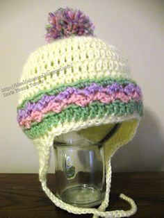 Free Crochet Pattern. Ideal Delusions: Basic Earflap Hat