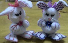 Como fazer um COELHO da Páscoa em Fuxico Passo a Passo- Easter Bunny feltre