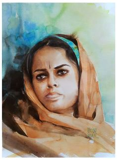 Watercolor/ Shruti/ size; 45x32 cm/ QoR