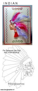 Indian Head Dress Iris Fold Card