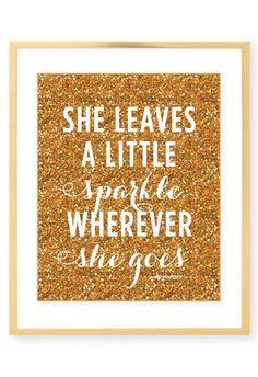 She always sparkles...