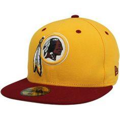 3ab95f8ba New Era Washington Redskins Two-Tone Fitted Hat - Gold Burgundy