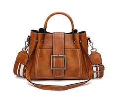ChainSee Womens Shoulder Bag Retro Leather Purse Tophandle Satchel Messenger Bag Tote Handbag Brown * To view further for this item, visit the image link. (This is an affiliate link) Fashion Handbags, Tote Handbags, Cross Body Handbags, Fashion Bags, Leather Handbags, Prada Handbags, Style Fashion, Crossbody Bags, Fashion Women
