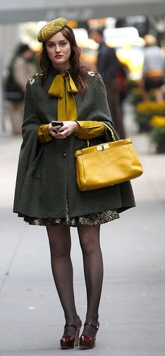Blair Waldorf Coat:  Gryphon Handbag:  Fendi  Skirt:  Oshi