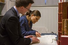 In mid-February Crown Princess Victoria visited the Bernadotte Library. The Bernadotte Library contains the royal book collection that consists of approximately 100,000 books that have belonged to the Bernadotte kings and queens throughout the ages.