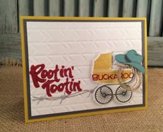 Rootin' Tootin' Buckaroo Baby Card, Yee-Haw & Something for Baby stamps, Stampin' Up!  www.stampingcountry.com