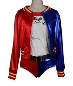 74.99$  Watch here - http://vialo.justgood.pw/vig/item.php?t=q4cedud1869 - Harley Quinn Style Outfit Set Cosplay Costume Halloween Suit 74.99$