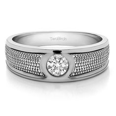 Sterling Silver Solitaire Men's 1/4ct TDW Diamond Wedding Ring (G-H, I1-I2) (Yellow Plated Sterling Silver, Size 11.5)