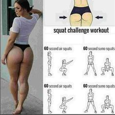 Try this 5 minutes squat workout challenge – Set Run . . #Femalefitness