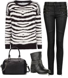zebra print, fashion, look