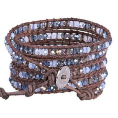 awesome KELITCH New Jewelry Crystal Bead Charm 5 Wrap Bracelet Women Cuff Leather Bangle - For Sale View more at http://shipperscentral.com/wp/product/kelitch-new-jewelry-crystal-bead-charm-5-wrap-bracelet-women-cuff-leather-bangle-for-sale/