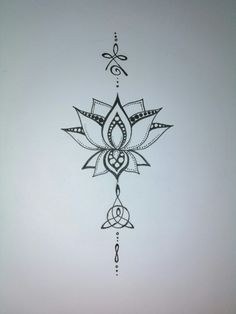 Tattoo concept. Celtic strength mother and child. Lotus.