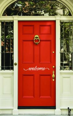 Welcome Front Door Decal, Welcome Front Door Sticker, Welcome Vinyl Decal, Welcome Wall decal