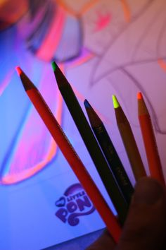 Black light colored pencils!