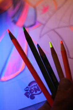Black light colored pencils!