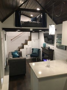 Tiny House Living: Where stairs are second bath just toilet/sink. Or ...