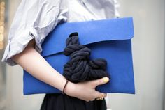 interesting design. bag with a knot from 202 Fact Clutch, Tokyo