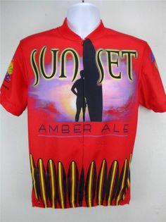 00e18c485 Canari Cycling Shirt Men s Jersey Biking Racing Sunset Amber Ale Surf Print  M  Canari