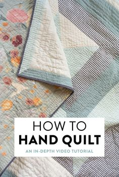 How to Hand Quilt (with Video Tutorial!) – Suzy Quilts – Famous Last Words Quilting Beads Patterns Quilting For Beginners, Quilting Tips, Quilting Tutorials, Sewing Tutorials, Quilting By Hand, Beginner Quilting, Crazy Quilting, How To Hand Quilt, Quilting Projects
