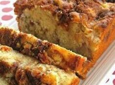 Apple Cinnamon Loaf - worked very well substituting a cup-for-cup gluten free flour (I used Namaste).